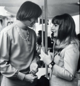 Peter and me back in the day on the Monkees set.